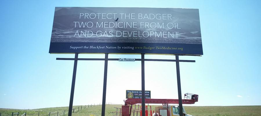 Billboard in Montana.