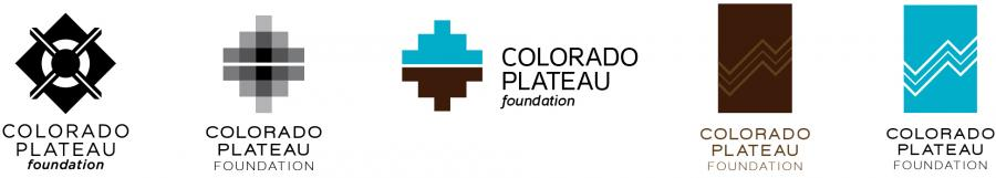 Logo options for the Colorado Plateau Foundation.