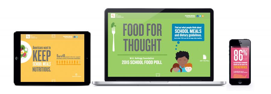 2015 School Food Poll website